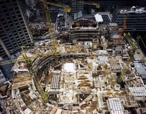 Barbican under construction