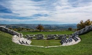 Samnite amphitheatre near Agnone.