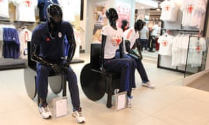 The mannequal wheelchair, designed by TV presenter Sophie Morgan, being used in a shop display.