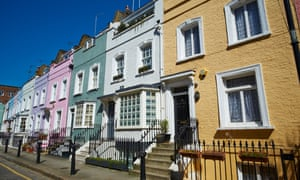 Terraced town houses Bywater Street Chelsea London