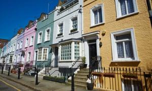 Terraced town houses in Chelsea, London