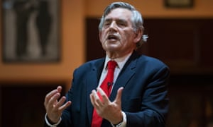 Former prime minister Gordon Brown, who believes 'we are in a leaderless world'.