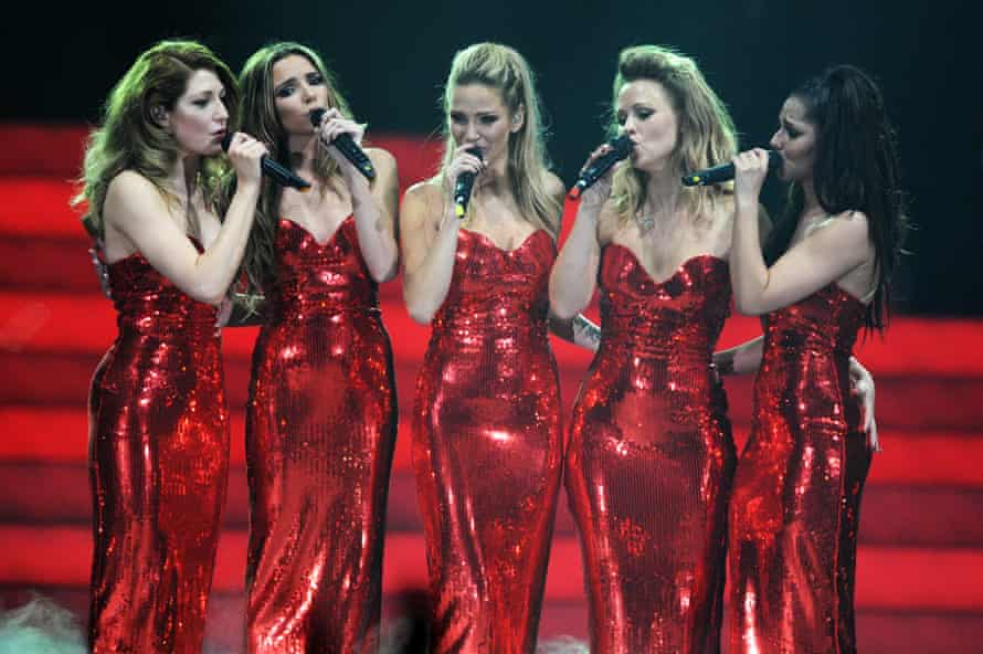 Girls Aloud performing on their final tour in 2013.