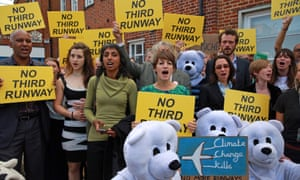 Supporters join the 13 Plane Stupid activists outside Uxbridge magistrates court on Wednesday.