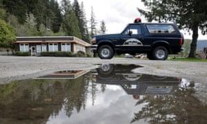 A replica of a Twin Peaks sheriff's patrol car in Snoqualmie.