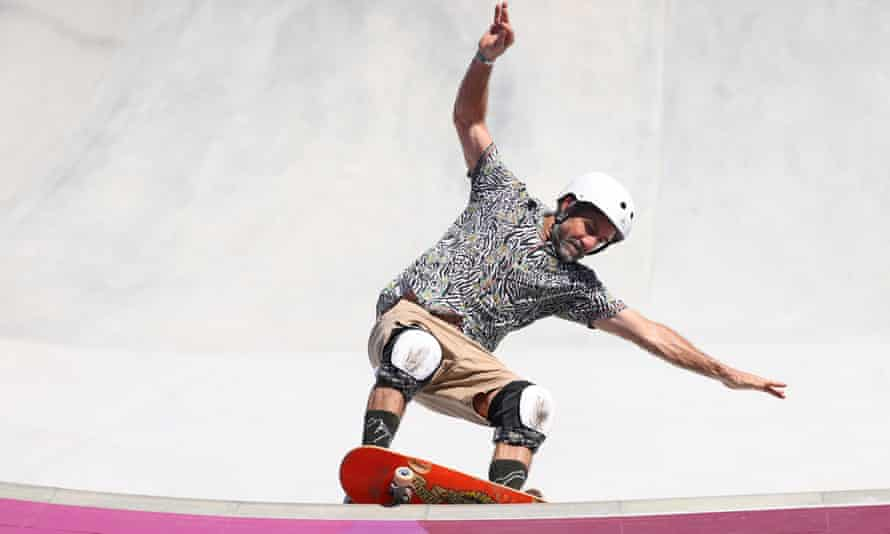 Skateboarder Dallas Oberholzer made his Olympic debut at 46 years old.