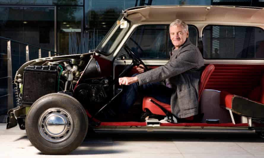 James Dyson in an early Austin Mini car