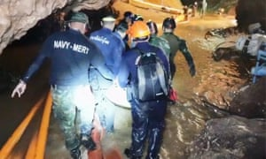 The rescue operation at the Tham Luang cave complex in Mae Sai, Thailand.