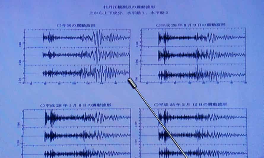 Waveform data observed in Japan after North Korea's nuclear test on 3 September.