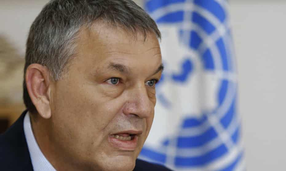 Philippe Lazzarini, commissioner general of the UN agency for Palestinian refugees