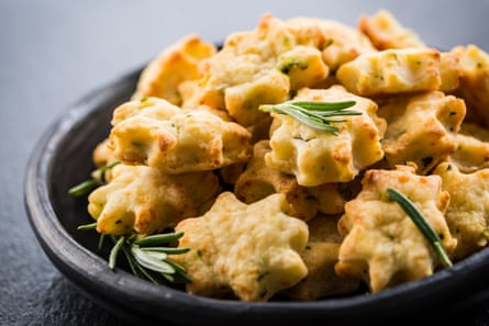 cookies are made with parmesan cheese and rosemary