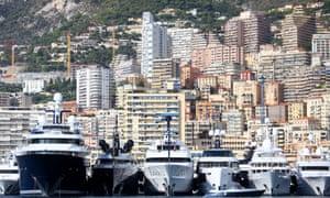 superyachts moored in monaco harbour