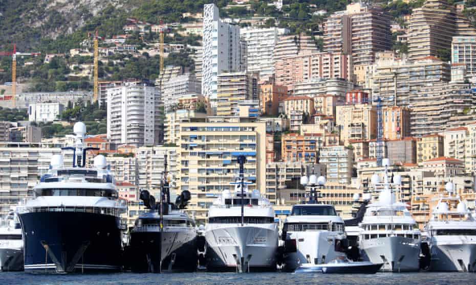 Luxury yachts in Monaco