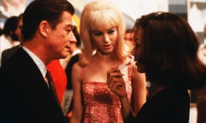 John Hurt as Stephen Ward, Bridget Fonda as Mandy Rice-Davies and Joanne Whalley as Christine Keeler in the 1989 film about the Profumo affair, Scandal