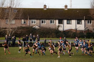 Young Munster U20s v Shannon RFC U20s, a local Limerick derby match, played at Tom Clifford Park, Greenfields.