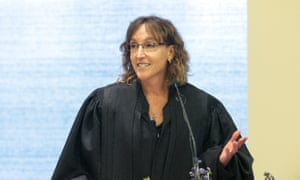 Jane Kelly speaks during her investiture ceremony as a judge on the eighth US circuit court of appeals on 2 August 2014.