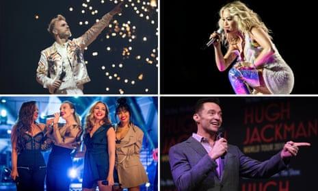 Take That, Rita Ora, Hugh Jackman and Little Mix