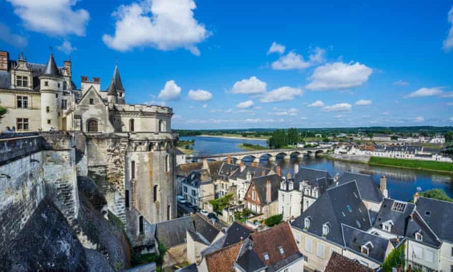 Château d'Amboise and the Loire.