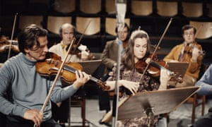 Neville Marriner, left, playing the violin in the mid-1960s.