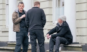 Police officers Andy Balding and Joel Dowse (standing) deal with legal high substance abuse in Lincoln