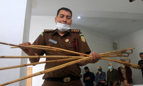 Gay men caned 77 times in 'medieval' punishment in Indonesian province