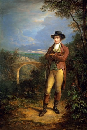 Alexander Nasmyth portrait of Burns, painted more than thirty years after the poet's death.