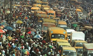A million separate lives … commuters and traders in the Oshodi area of Lagos.