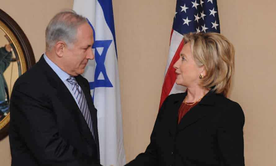Hillary Clinton, then the US secretary of state, meets Benjamin Netanyahu in 2010.