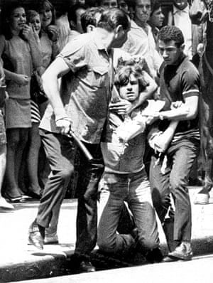 Unidentified men detain a student during a protest in Sao Paulo, Brazil, on 9 October 1968.