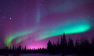 Awe-inspiring ... the northern lights in Churchill, Manitoba. Photograph: Alamy