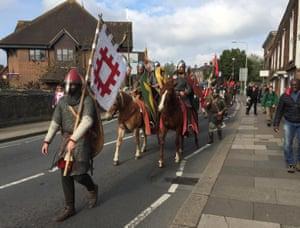 Battle, England: A group of re-enactors