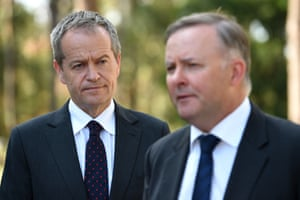 Bill Shorten in April with Anthony Albanese