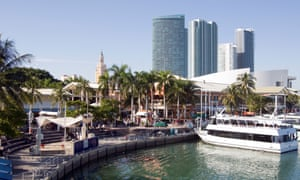 The Bayside marketplace in downtown Miami.