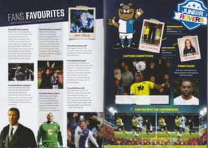The Bet 24 logo appearing on the children's pages of the Blackburn Rovers programme.