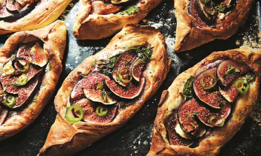 Sarit Packer and Itamar Srulovich's fig and feta pide.