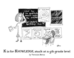 K is for Knowledge, stuck at a 5th grade level