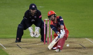 Alex Davies in action for Lancashire, who sit atop the north group of the T20 Blast.