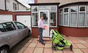 Labour MP Gareth Thomas campaigning in Harrow.