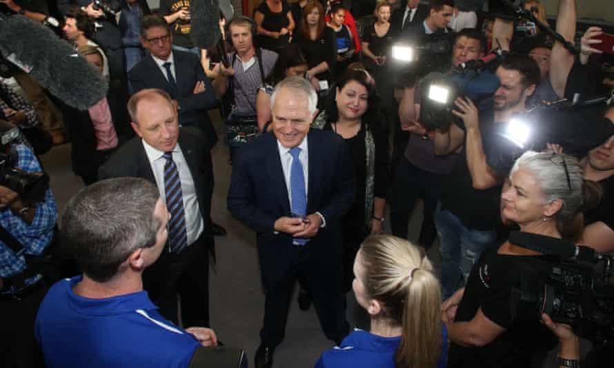 Malcolm Turnbull in Brisbane