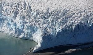 Glacier in Half Moon Bay, Antarctica