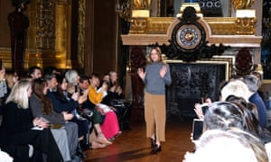 Stella McCartney acknowledges applause from the audience