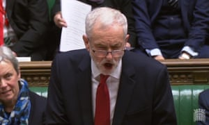 Jeremy Corbyn in the Commons this afternoon.