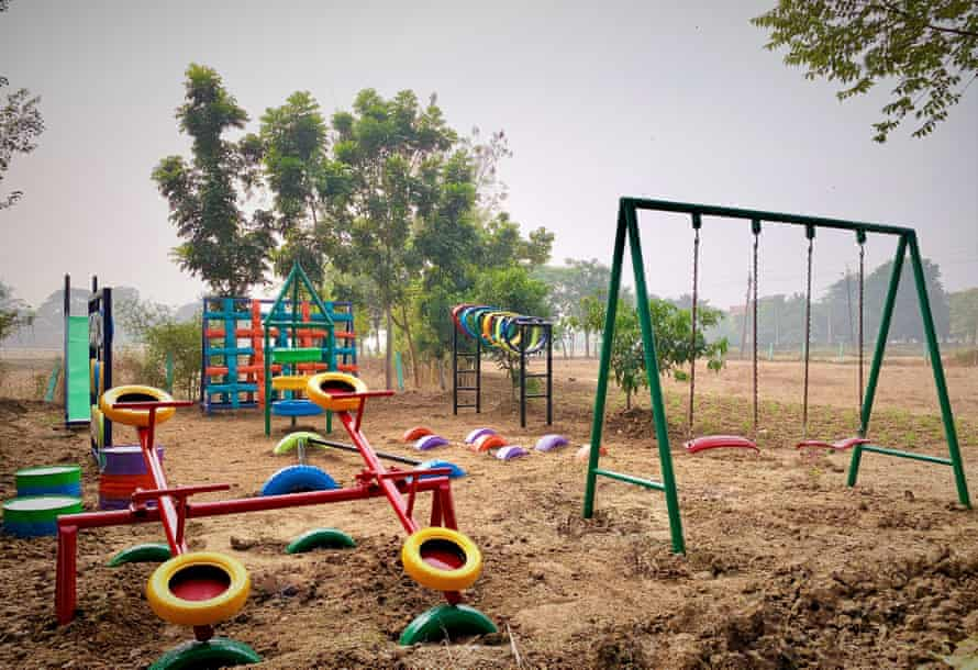 Anthill Creations uses some of India's 31m tons of scrap material otherwise intended for landfill to create playscapes like this one in Burdwan, West Bengal.