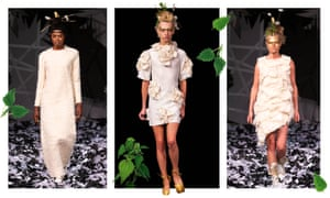These garments were made from the waste nettles from Prince Charles's Highgrove Estate