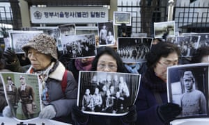South Koreans protest about Japan's use of comfort women in Seoul