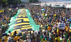 Protests in Brazil, which is now in recession.