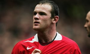 Wayne Rooney in action during the last 3pm BST Manchester derby kick-off.