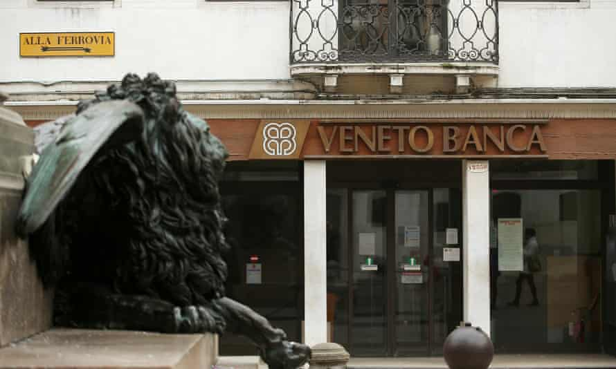 Veneto Banca branch in Venice.