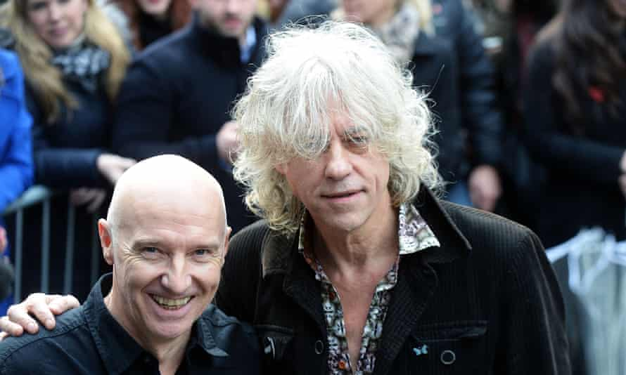 Irish musician Bob Geldof arrives at a west London studio to record the new Band Aid 30 single