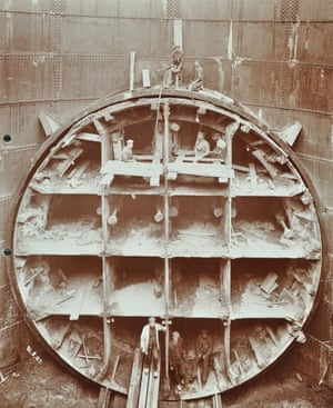 Rotherhithe Tunnel under construction